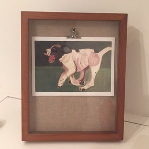 Wooden frame dog art